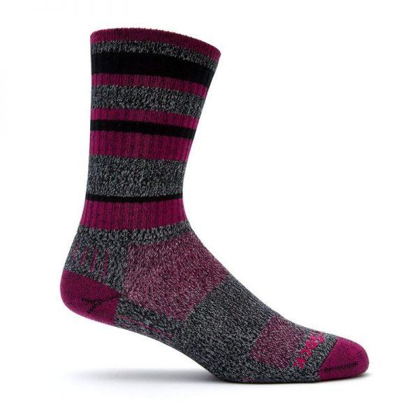 Adventure Crew Sock (black fuschia)