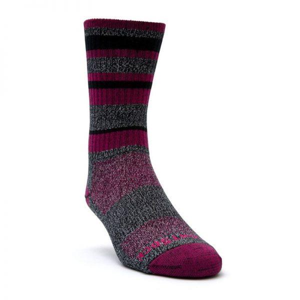 Adventure Crew Sock (black fuschia) - front angle
