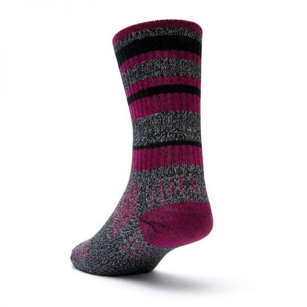 Adventure Crew Sock (black fuschia) - back angle