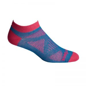 Coolmesh II Lo Quarter Womens Socks (turquoise-fuchsia)