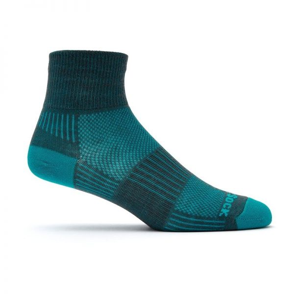 Coolmesh II - Quarter Sock (Ash-Turquoise)
