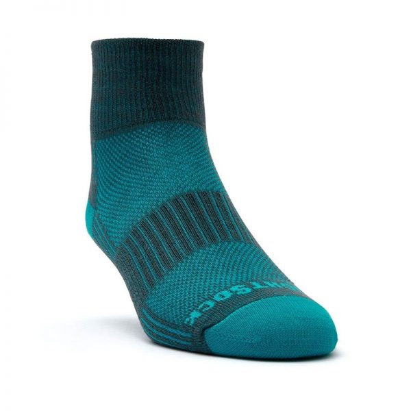 Coolmesh II - Quarter Sock (Ash-Turquoise) - front angle