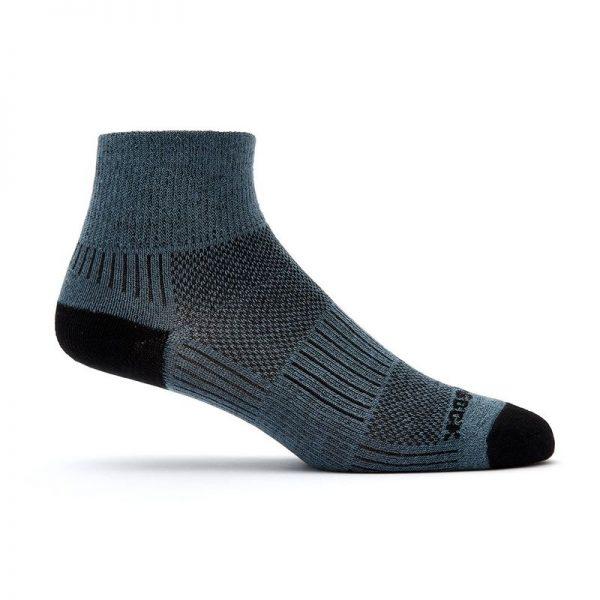 Coolmesh II - Quarter Sock (grey-black) - side view