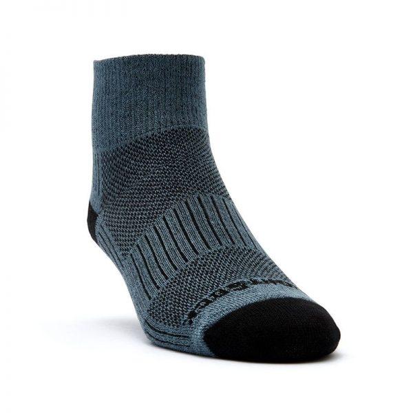 Coolmesh II - Quarter Sock (grey-black) - front angle view