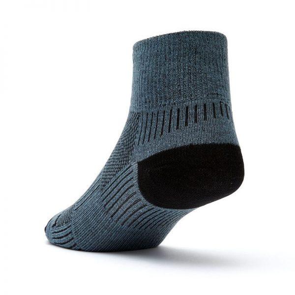 Coolmesh II - Quarter Sock (grey-black) - back angle view