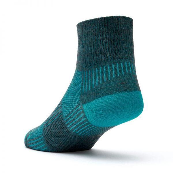 Coolmesh II Quarter Sock (ash & turquoise) - back angle