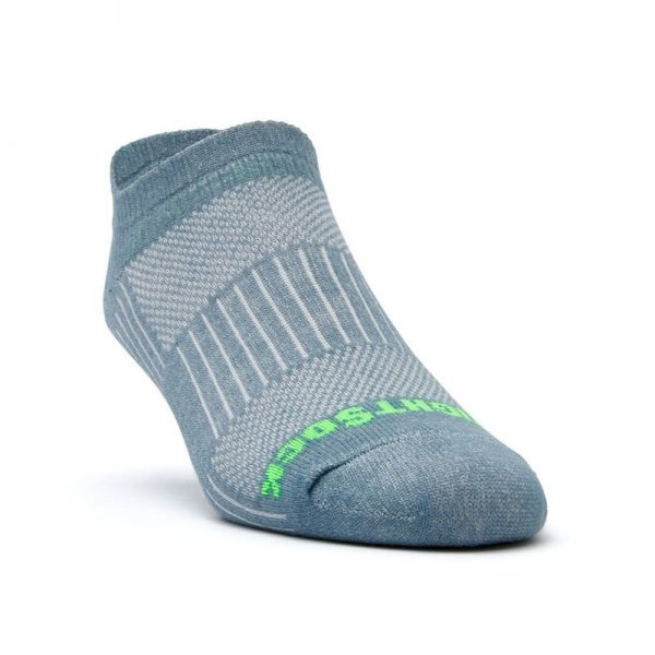 Coolmesh II Tab (ankle) Sock - grey front angle