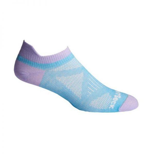 Coolmesh II Tab (ankle) Sock - blue mist and purple