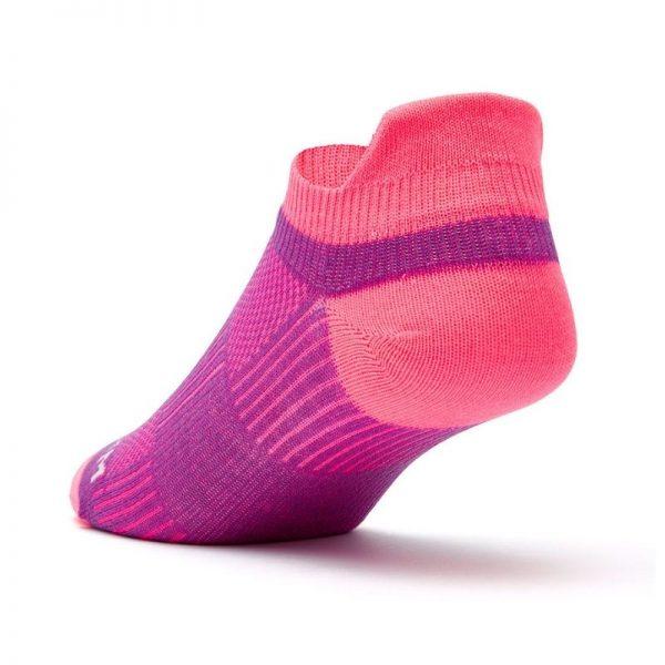 Coolmesh II - Tab Sock (plum and pink) - back angle