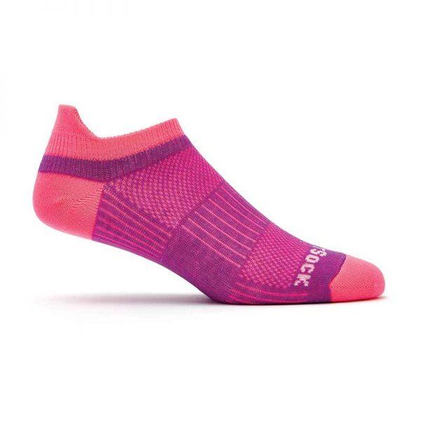 Coolmesh II Tab (ankle) Socks - plum and pink