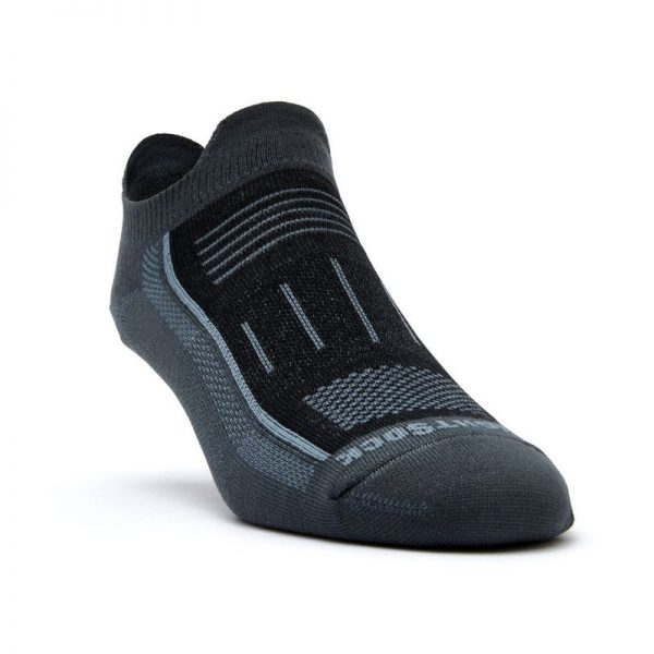 Endurance Double Tab Sock (ash black) - front angle