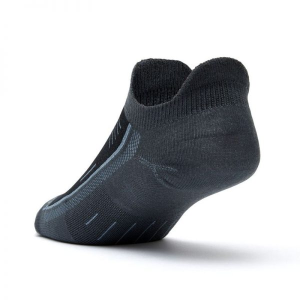 Endurance Double Tab Sock (ash black) - back angle