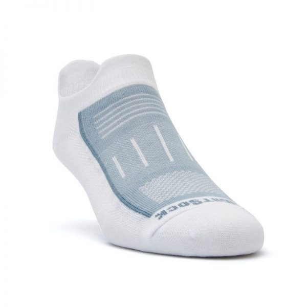 Endurance Double Tab Sock (white) - front angle