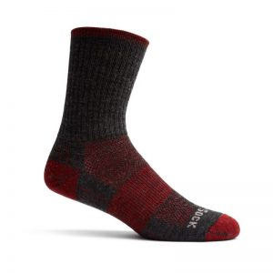 Escape Crew Sock (grey and red)
