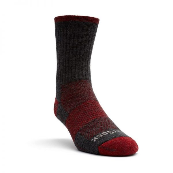 Escape Crew Sock (grey and red) - front angle