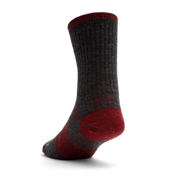 Escape Crew Sock (grey and red) - back angle