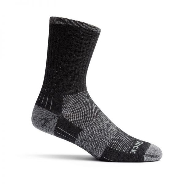Escape Merino Crew Sock (grey smoke)