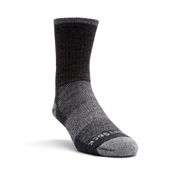 Escape Merino Crew Sock (grey smoke) - front angle