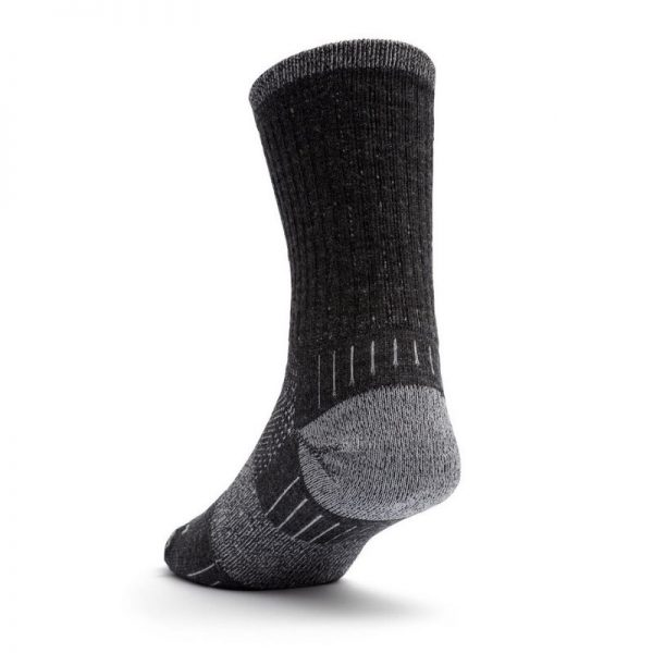 Escape Merino Crew Sock (grey smoke) - back angle