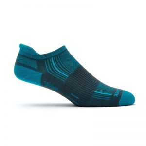Stride Tab Socks (ash-turquoise) - side view