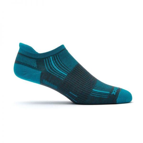 Stride Tab Socks (ash-turquoise) - side view