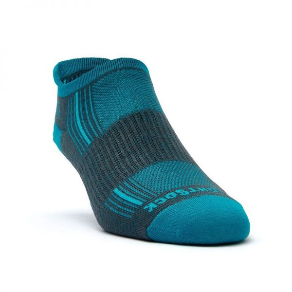 Stride Tab Socks (ash-turquoise) - front angle