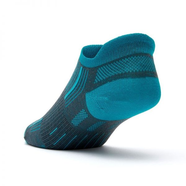 Stride Tab Socks (ash-turquoise) - back angle