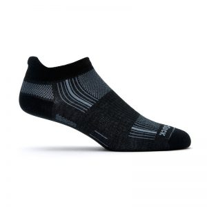 Stride Tab Socks (black) - side view