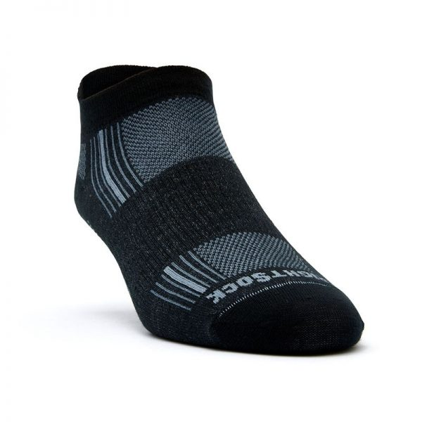 Stride Tab Socks (black) - front angle