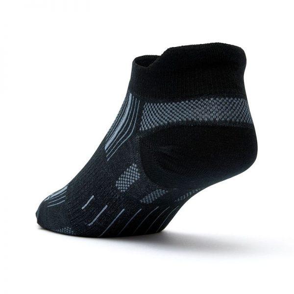 Stride Tab Socks (black) - back angle