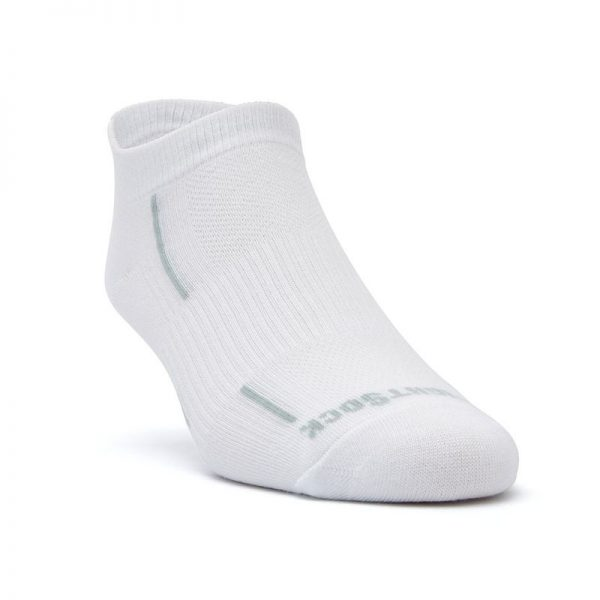 Stride Tab Socks (white) - front angle