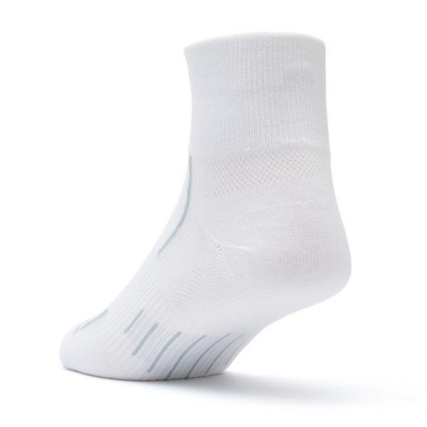 Stride Quarter Sock (white) - back angle
