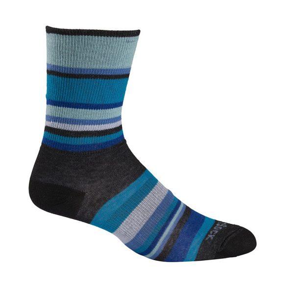 Stride Crew Sock (turquoise stripe)